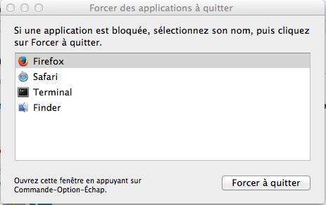 Ctrl Alt Suppr Mac OS